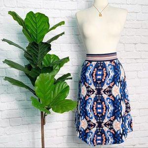 ANTHROPOLOGIE Batik jacquard sweater skirt